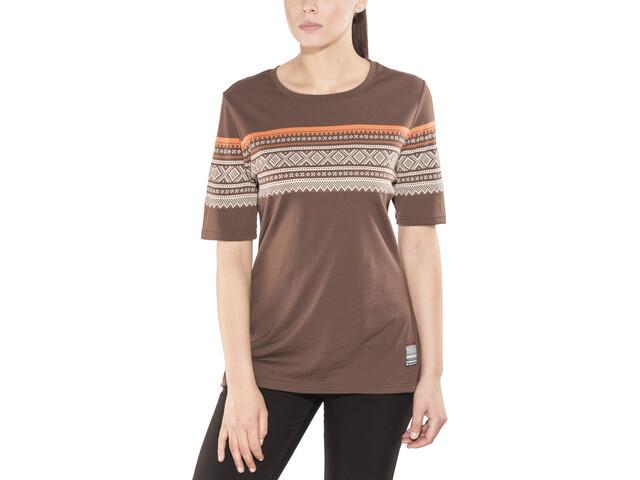 Aclima DesignWool Marius T-shirt Dame fondue fudge